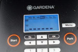 Die Zeiten beim Gardena Rasenmäher Roboter einstellen
